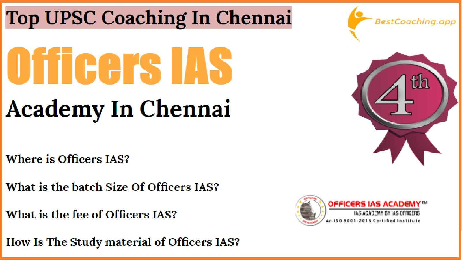 Best IAS Coaching of Chennai