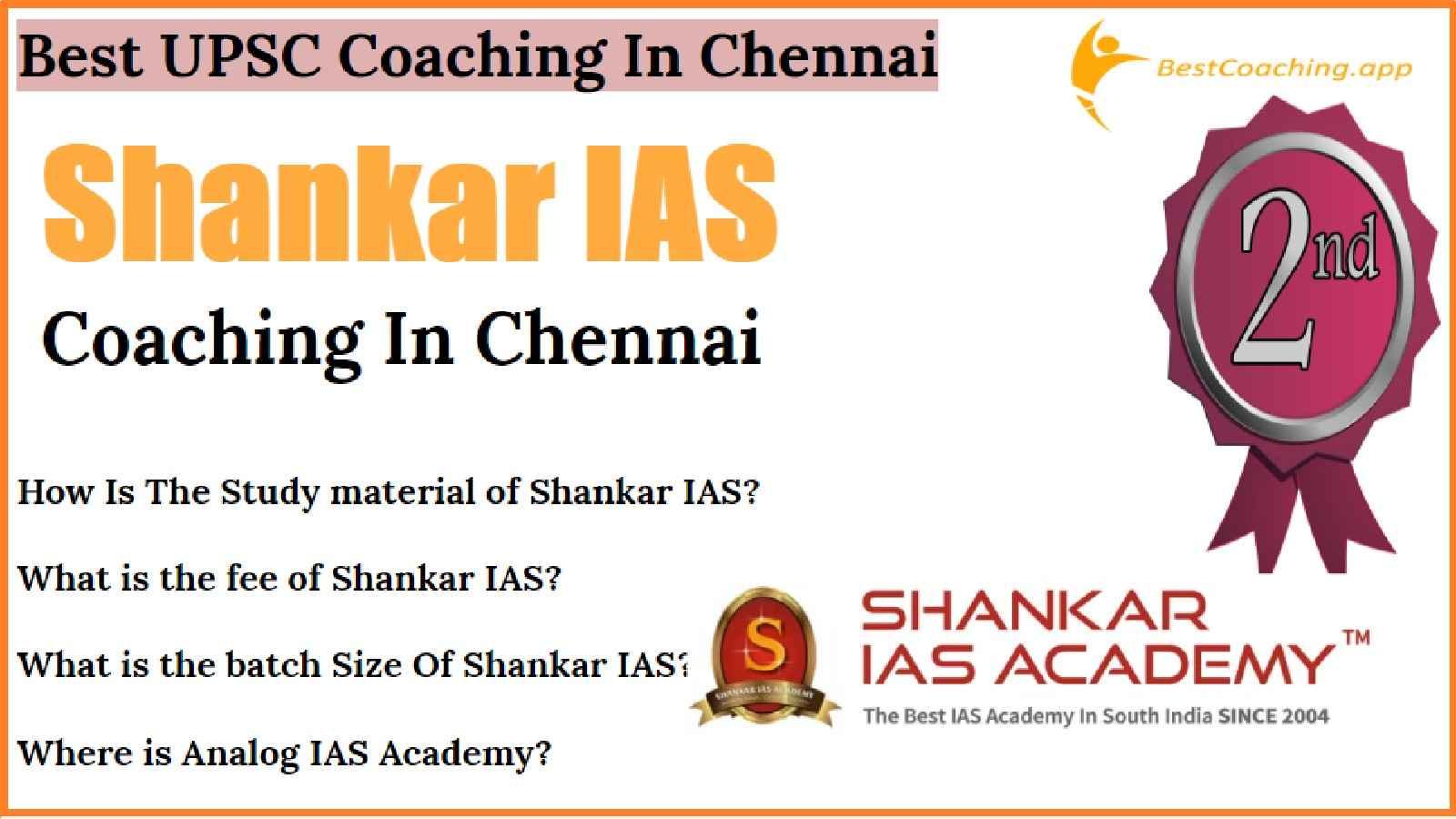 Top IAS Coaching Institute In Chennai